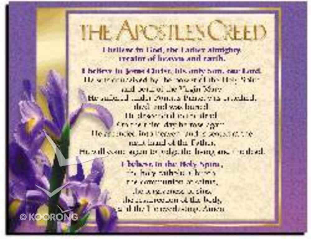 Wall Chart: Apostles' Creed (Laminated) Poster