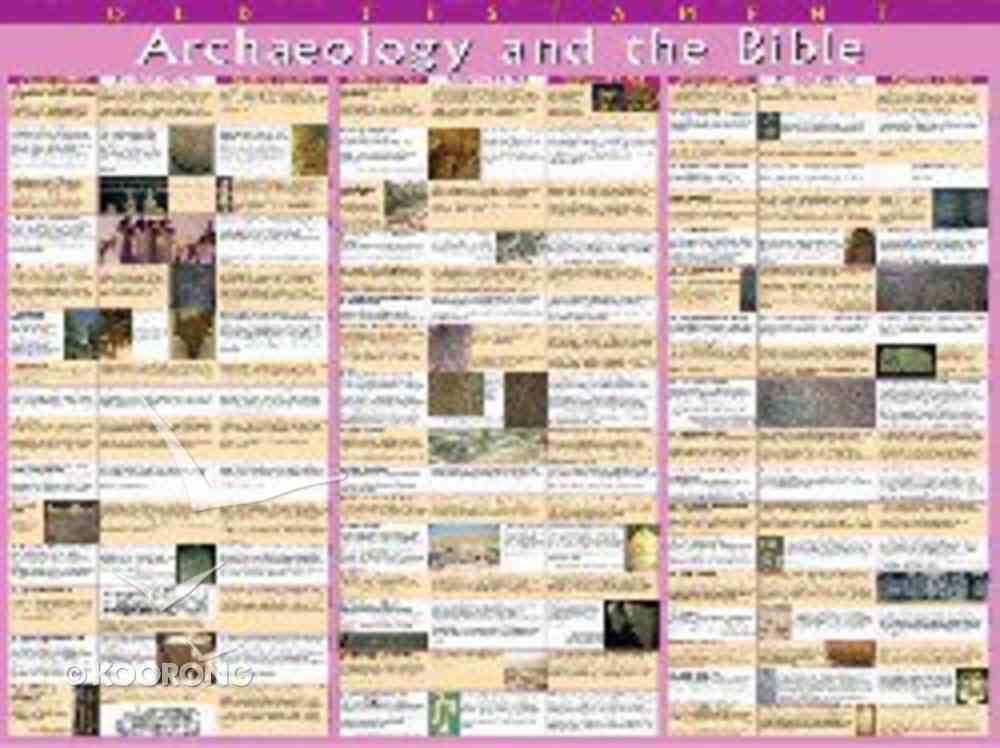 Wall Chart: Archaeology and the Bible Old Testament (Laminated) Chart/card