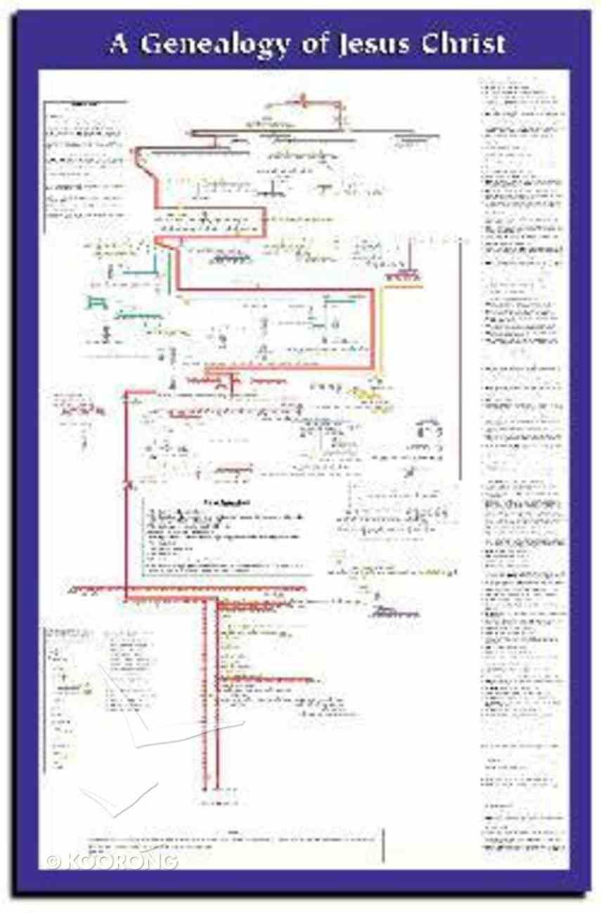 Genealogy of Jesus Christ Wall Chart Unlaminated (Extra Large) Chart/card