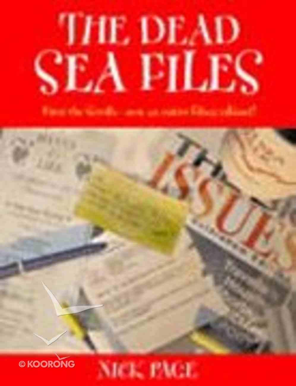 Dead Sea Files Paperback