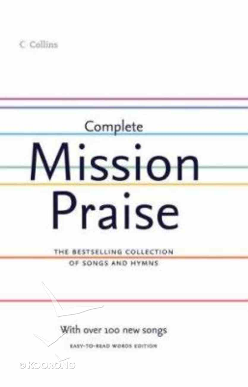 Complete Mission Praise (Music Book) (Easy-to-read Words Edition) Hardback