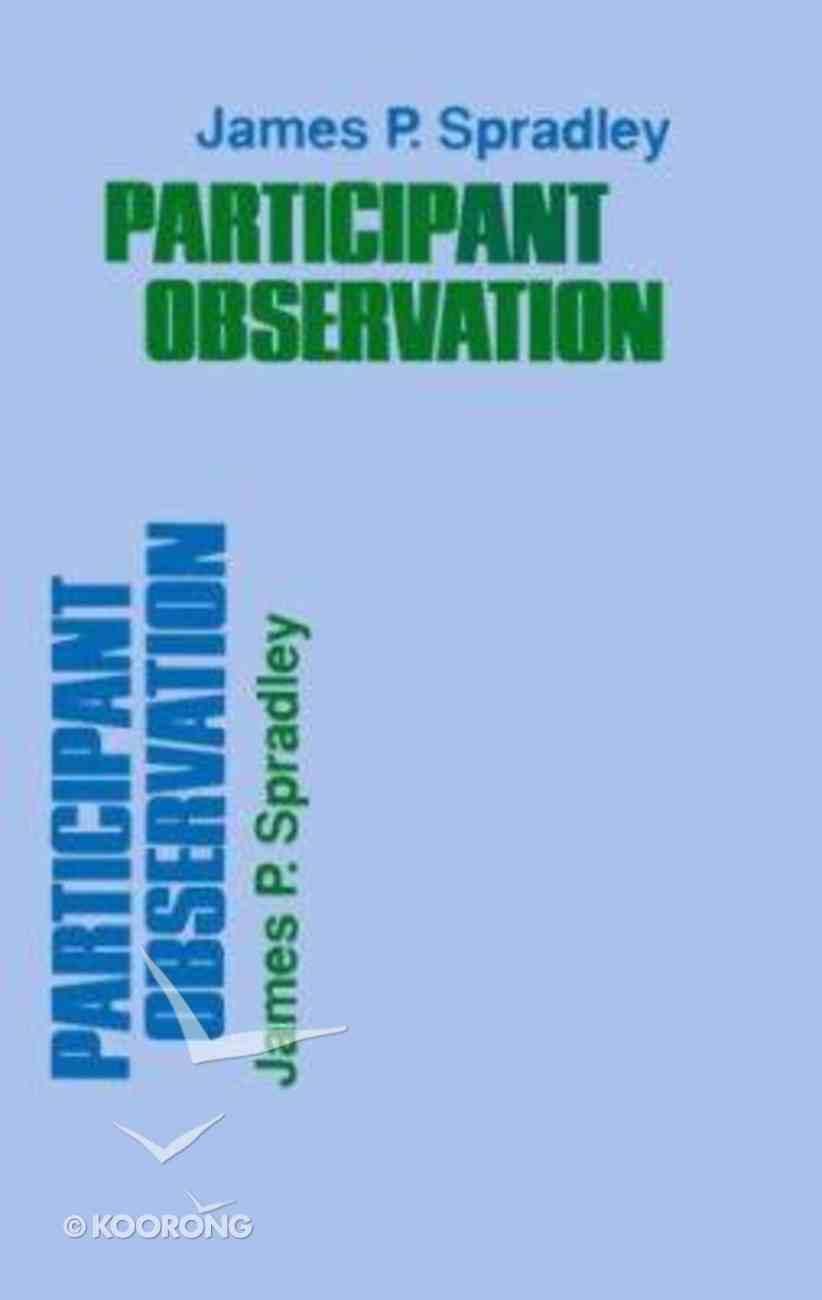 Participant Observation Paperback