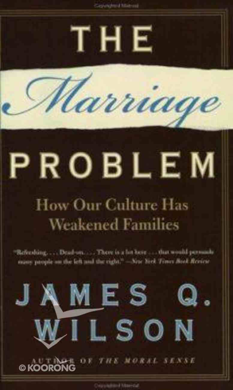 The Marriage Problem Paperback