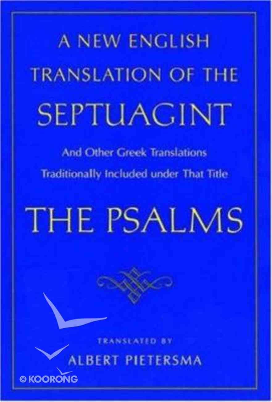 A New English Translation of the Septuagint Paperback