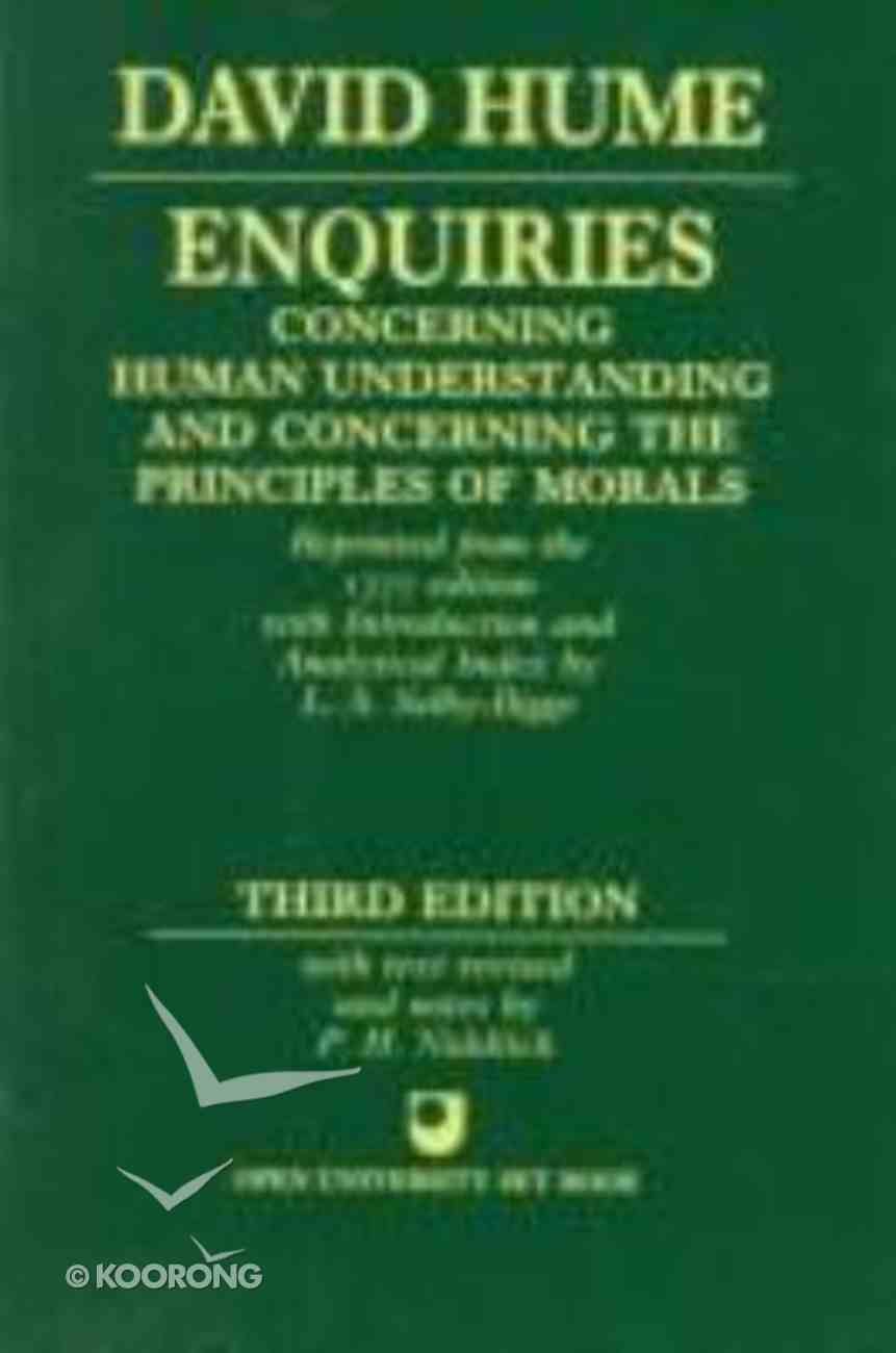 David Hume Enquiries (3rd Edition) Paperback