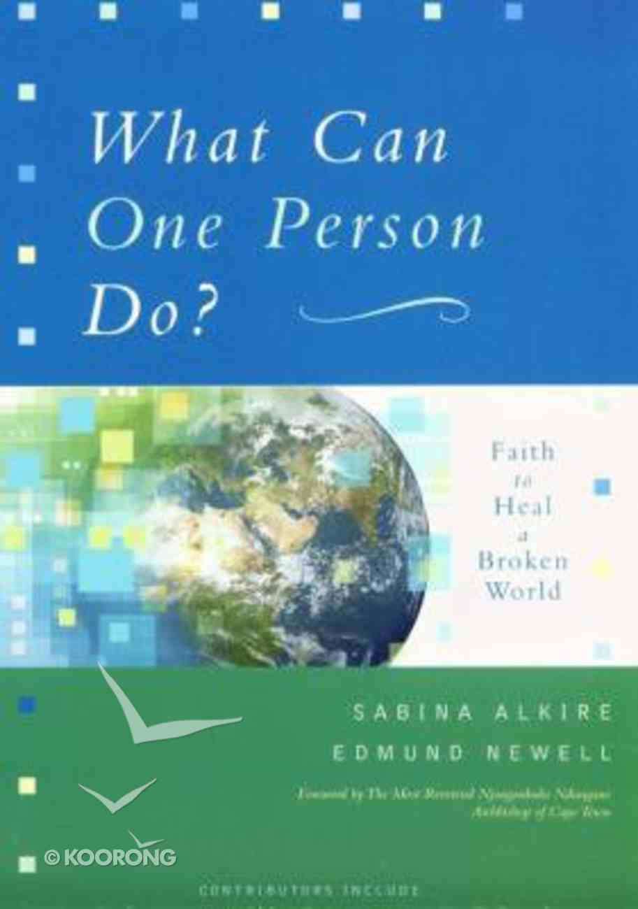 What Can One Person Do? Paperback