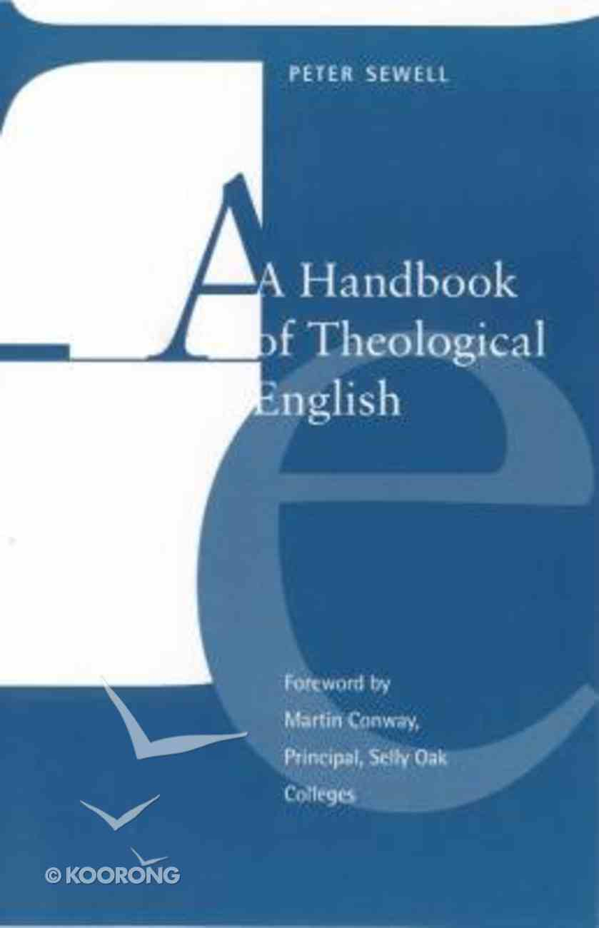 Handbook of Theological English Paperback