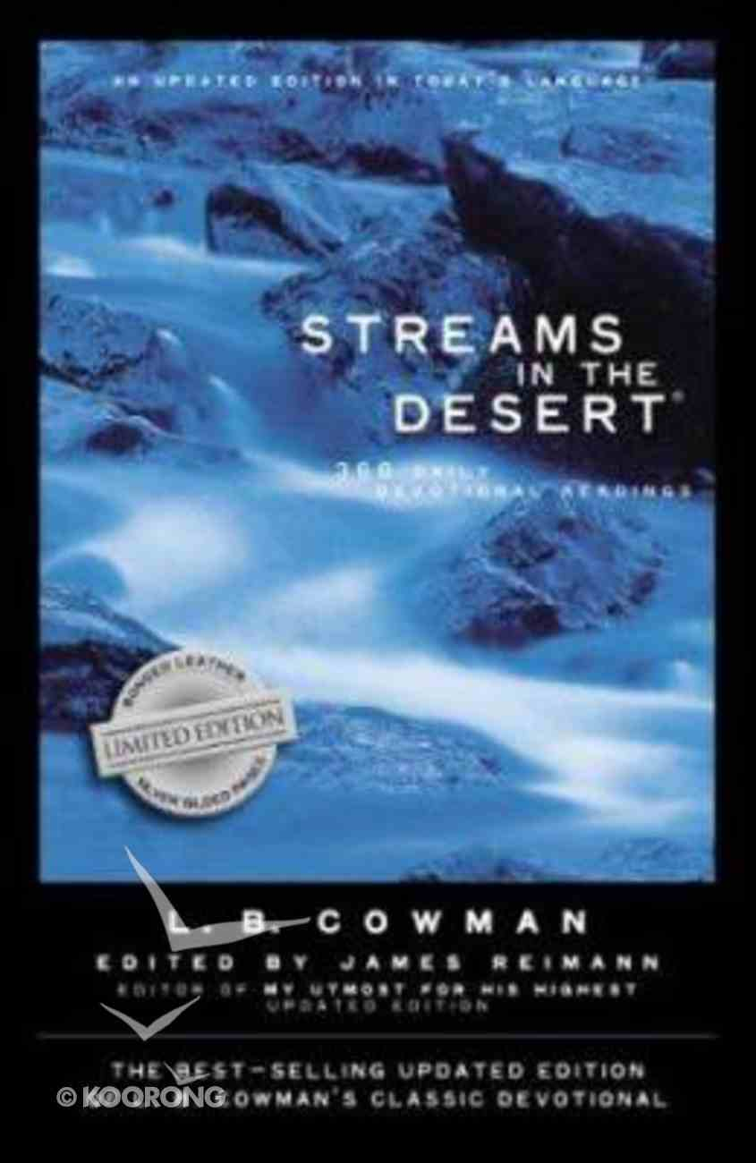 Streams in the Desert Bonded Leather