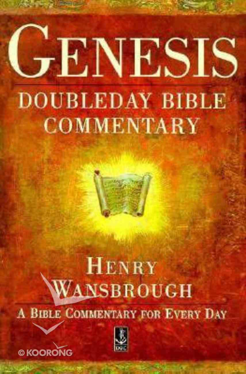 Dbc Genesis (Doubleday Bible Commentary Series) Paperback