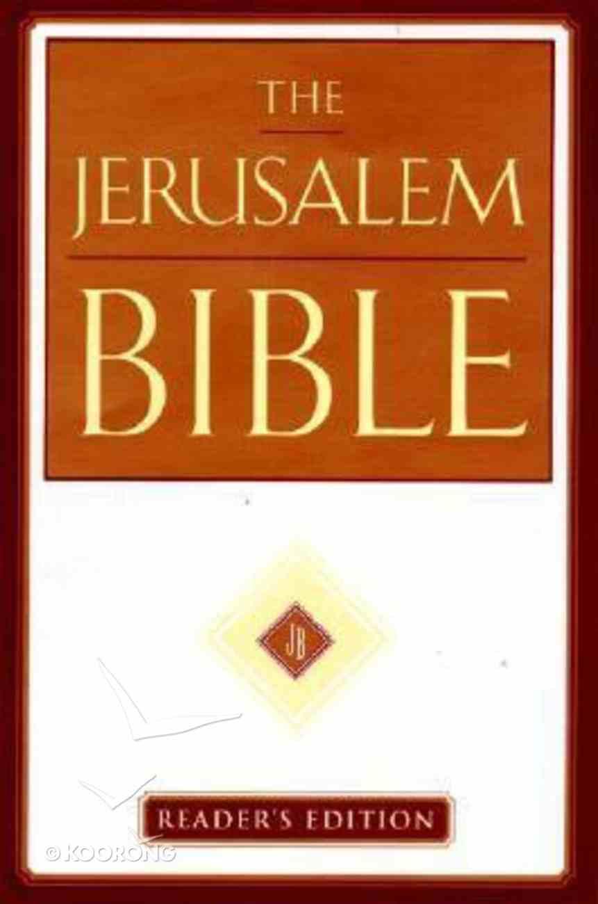 The Jerusalem Bible (Reader's Edition) Hardback