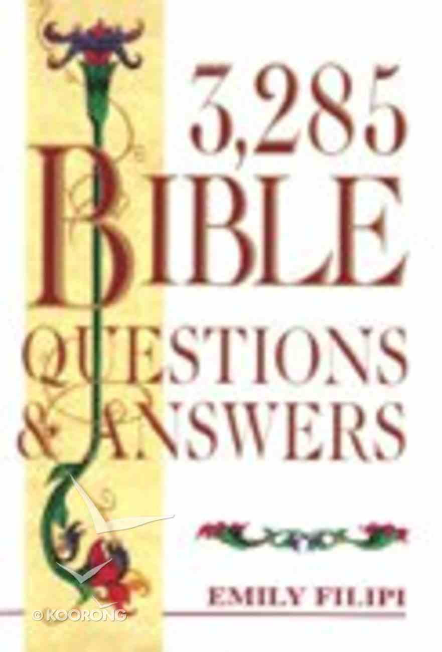3,285 Bible Questions and Answers Hardback