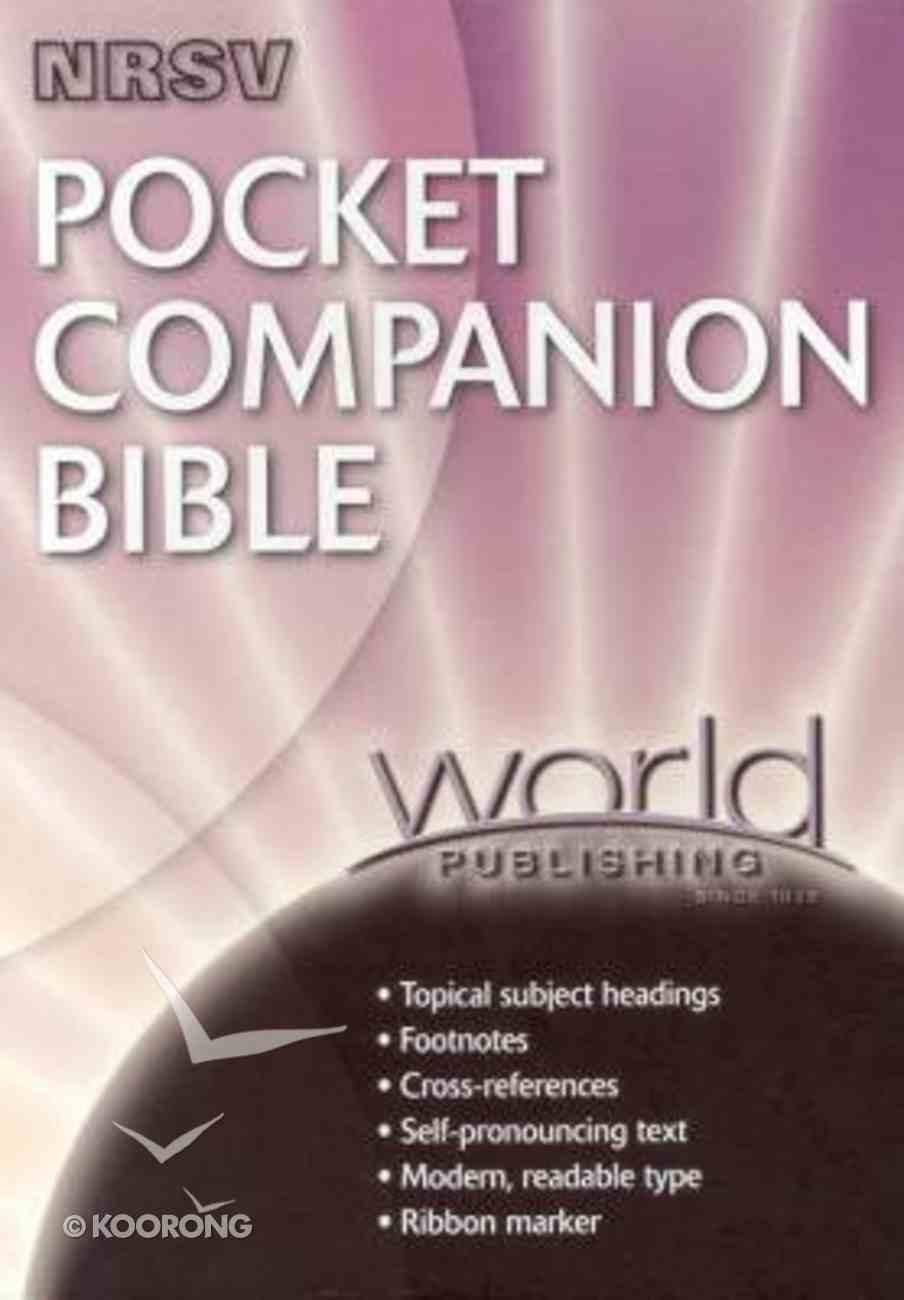 NRSV Pocket Companion Black Bonded Leather