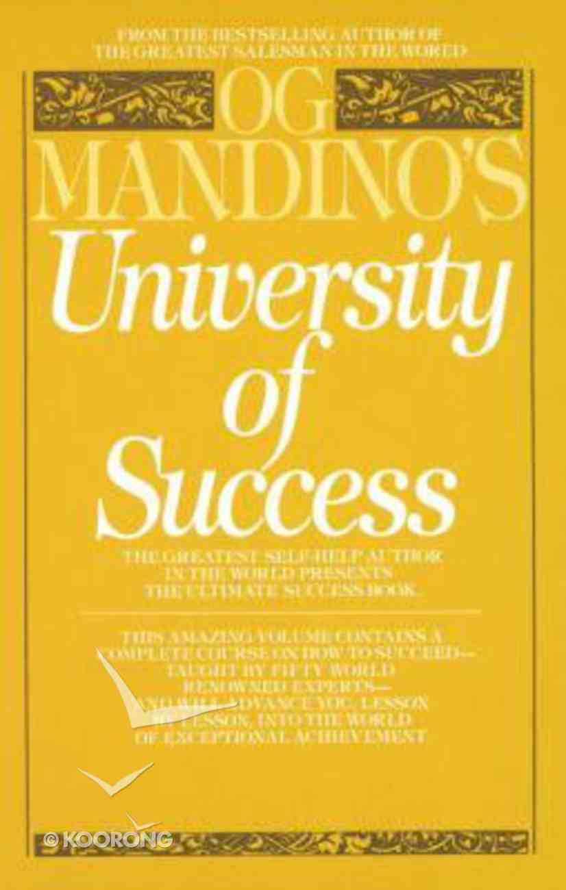 University of Success Paperback