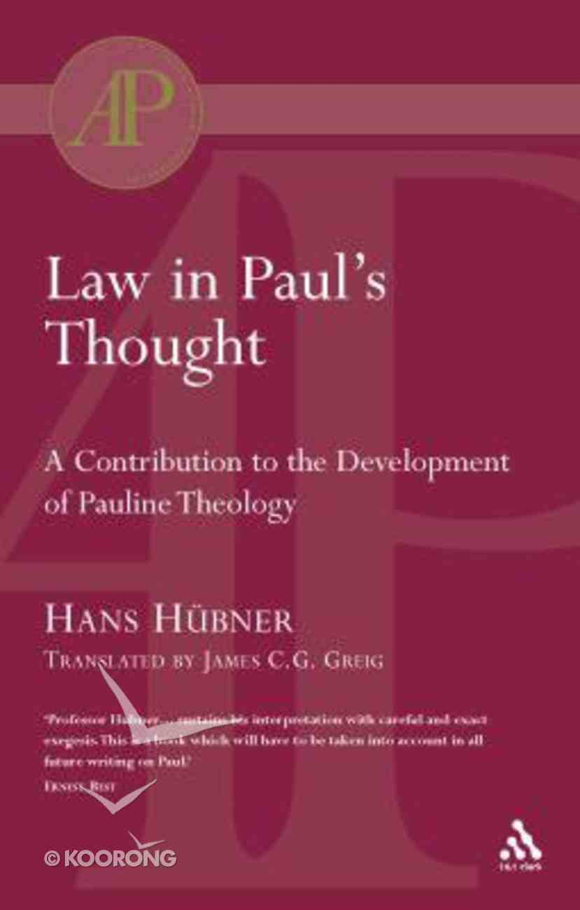 Law in Paul's Thought Paperback