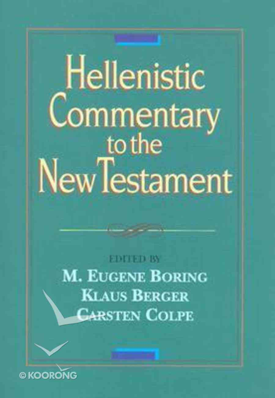 Hellenistic Commentary to the New Testament Hardback