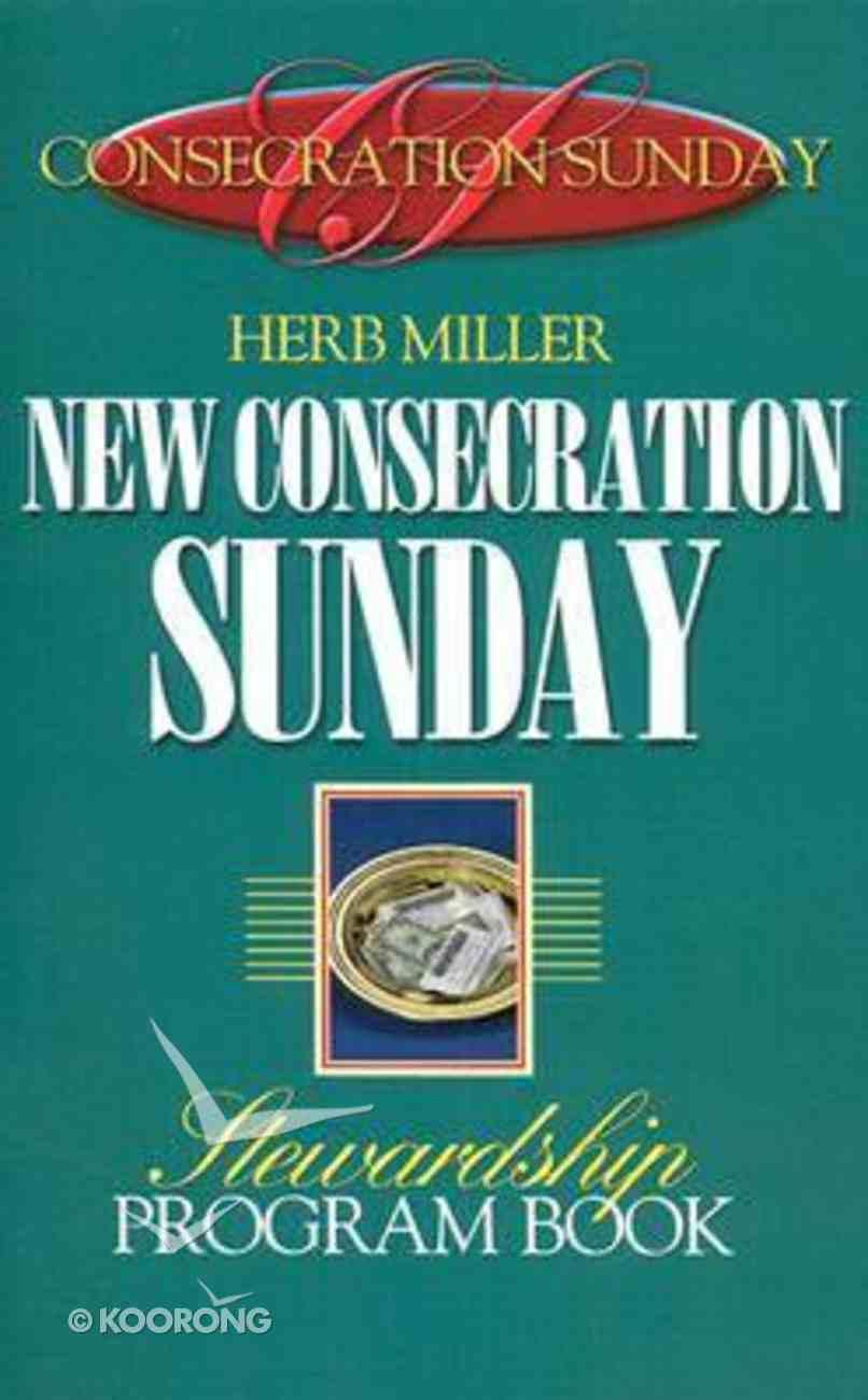 New Consecration Sunday Stewardship Program Book Paperback