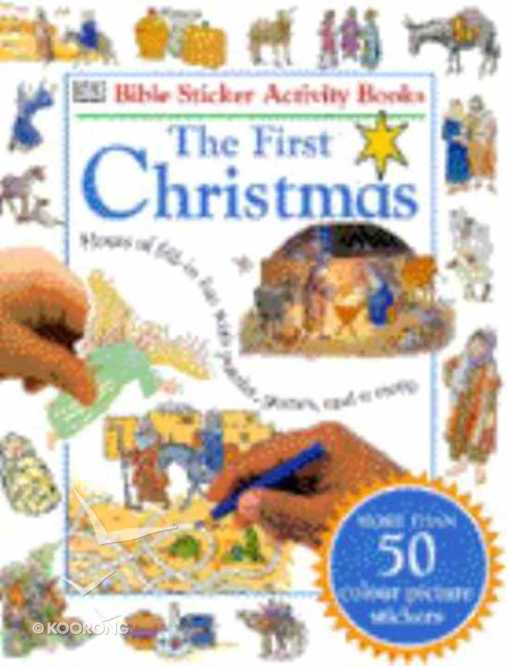 Bible Sticker Activity First Christmas Paperback