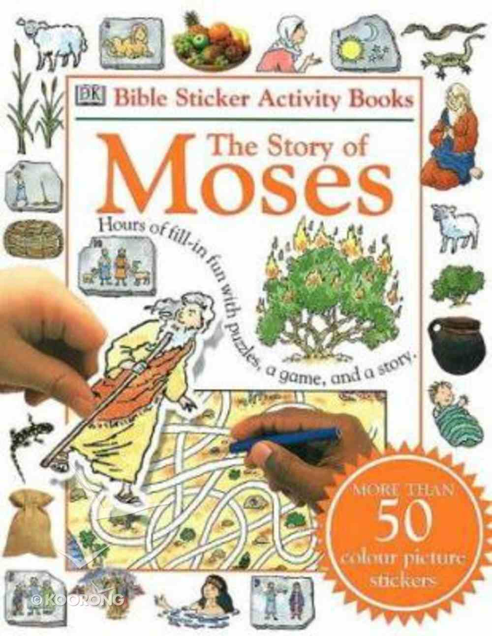 Bible Sticker Activity Story of Moses Paperback
