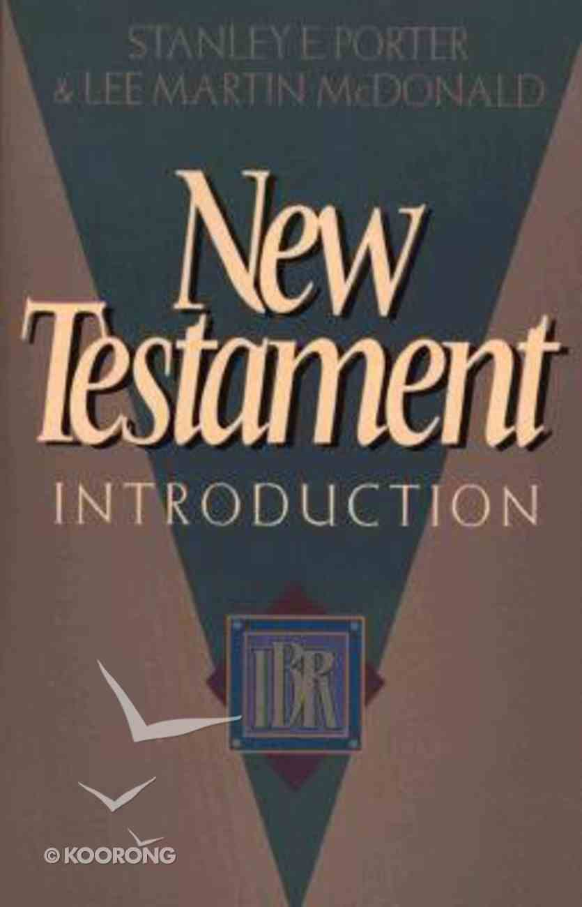 New Testament Introduction (Institute For Biblical Research Bibliography Series) Paperback