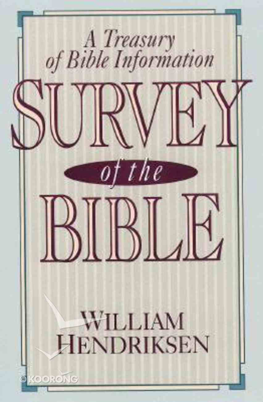 Survey of the Bible (4th Edition) Paperback