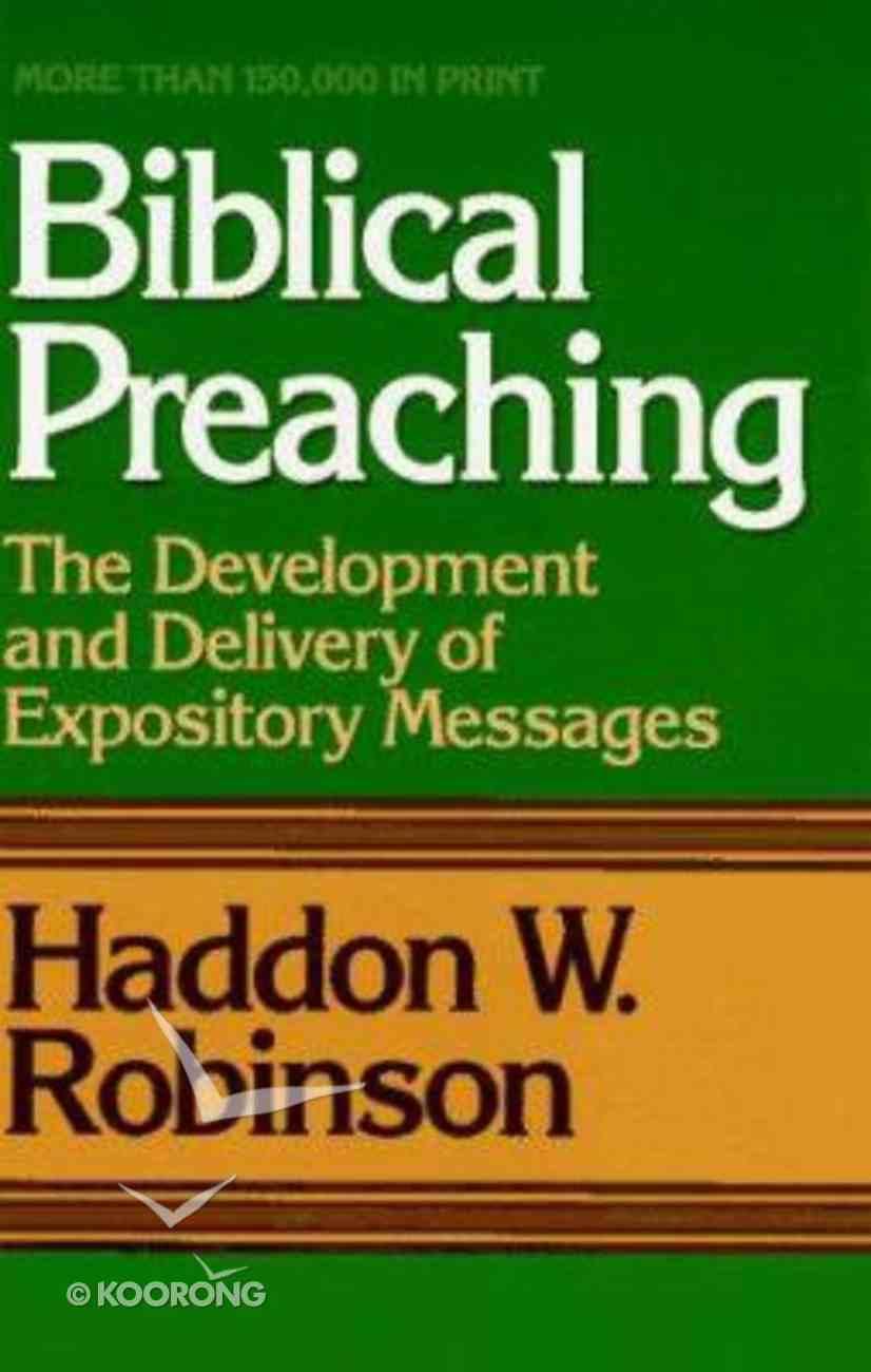 Biblical Preaching Hardback