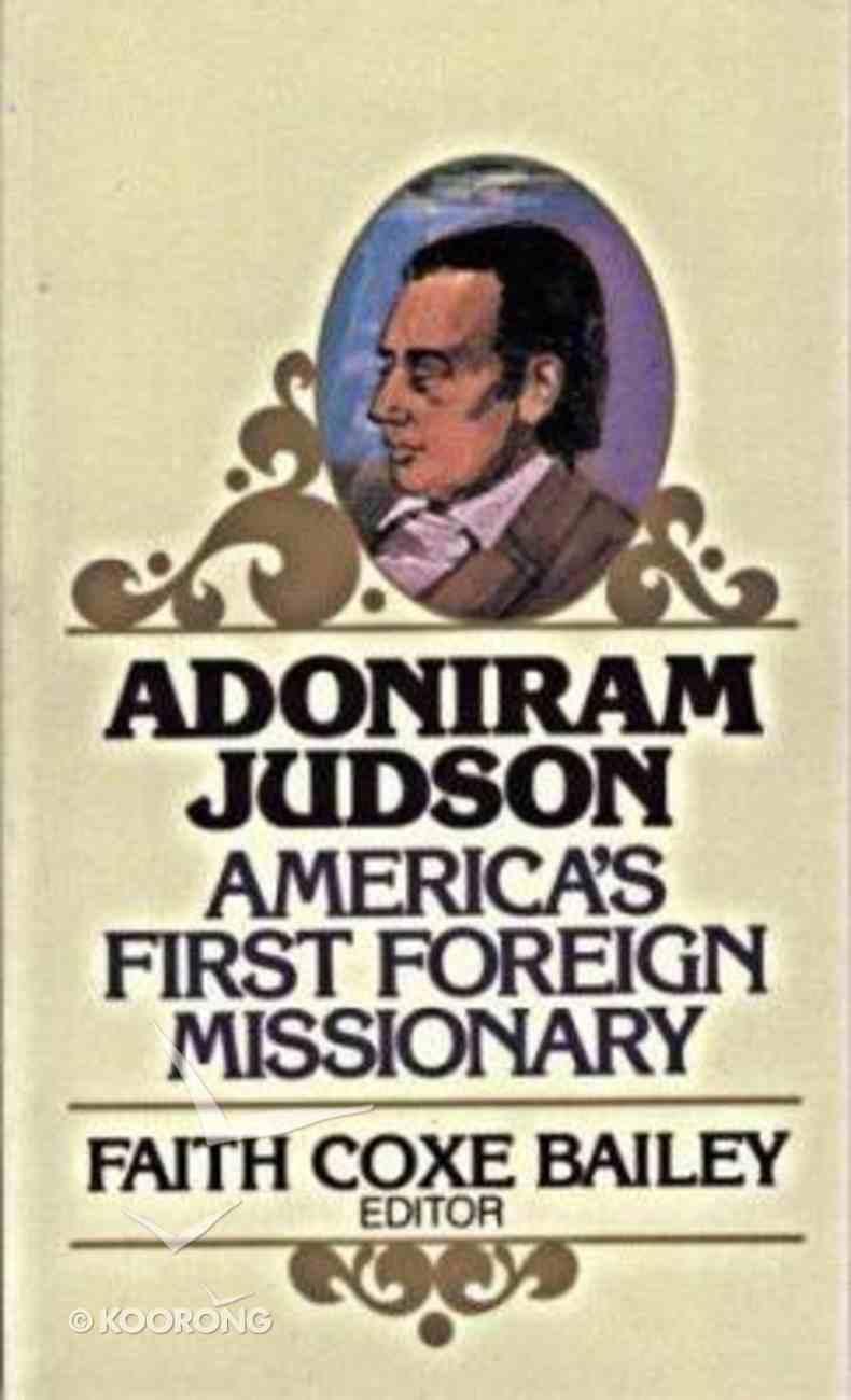 Adoniram Judson Paperback