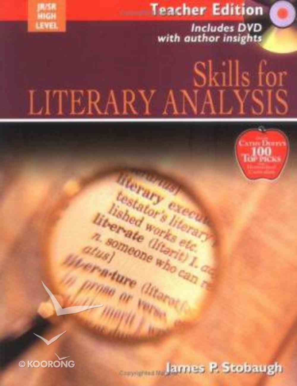 Skills For Literary Analysis Teacher Edition (Junior/senor High Level) Paperback