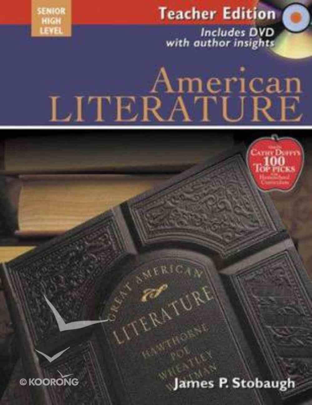 American Literature Teacher Edition (Senior High Level) Paperback