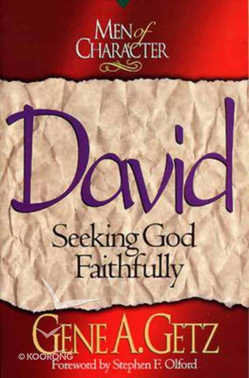 David (Men Of Character Series) Paperback