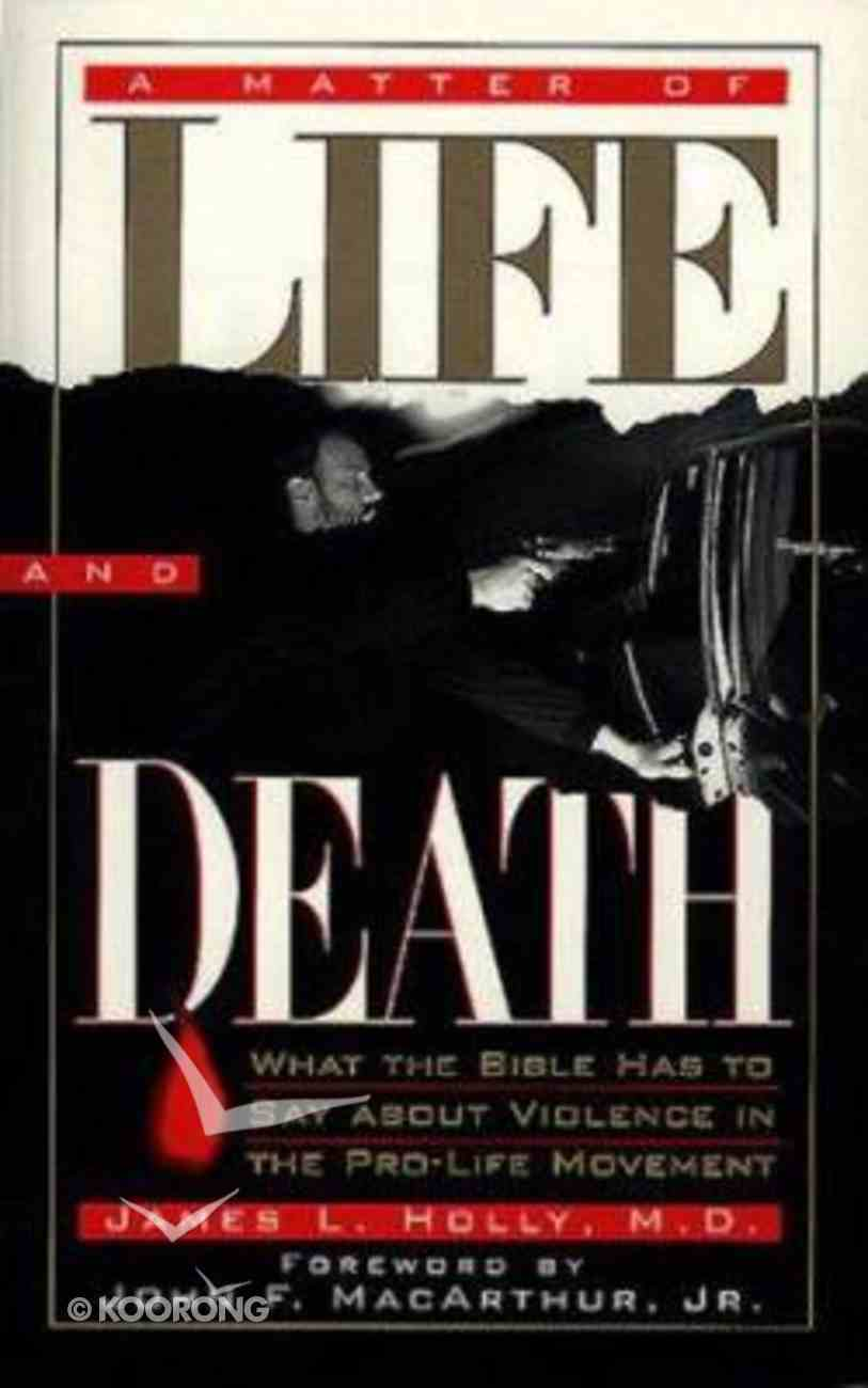 A Matter of Life and Death Paperback