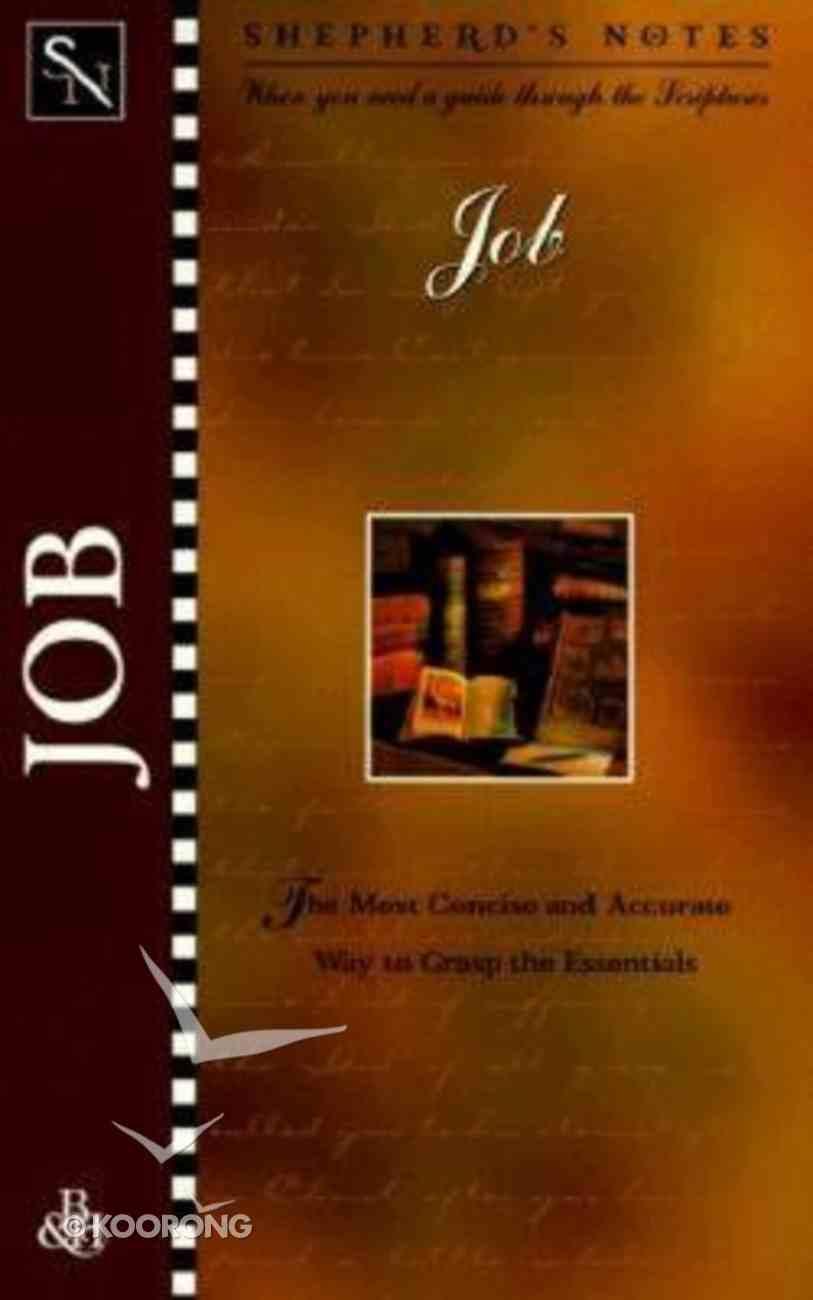 Job (Shepherd's Notes Series) Paperback