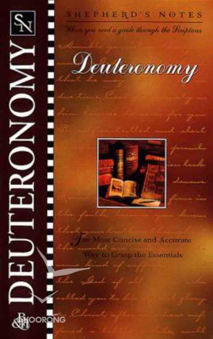 Deuteronomy (Shepherd's Notes Series) Paperback