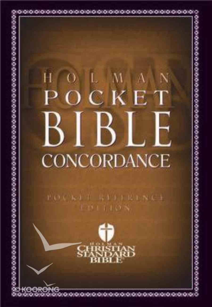 HCSB Pocket Bible Concordance Paperback