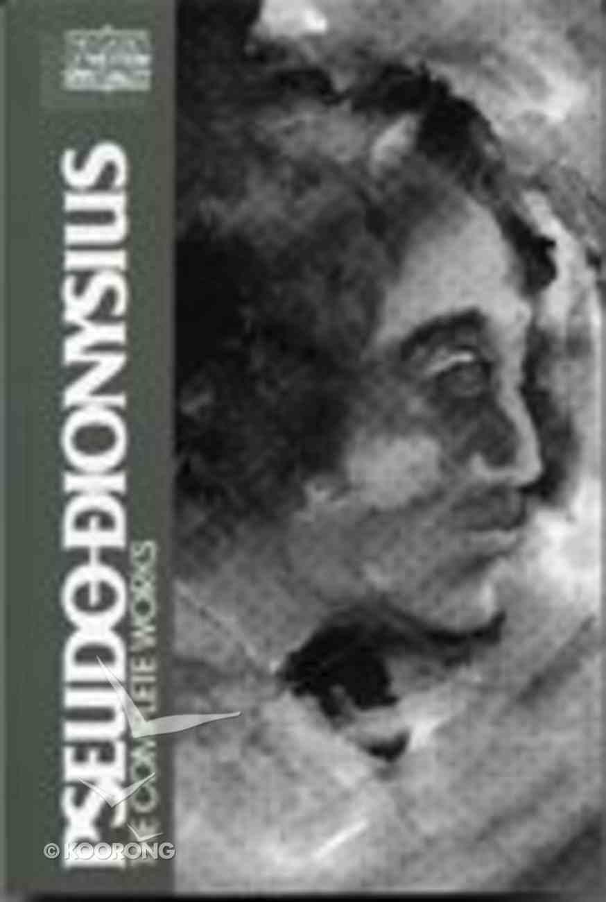 Pseudo Dionysius (Classics Of Western Spirituality Series) Paperback