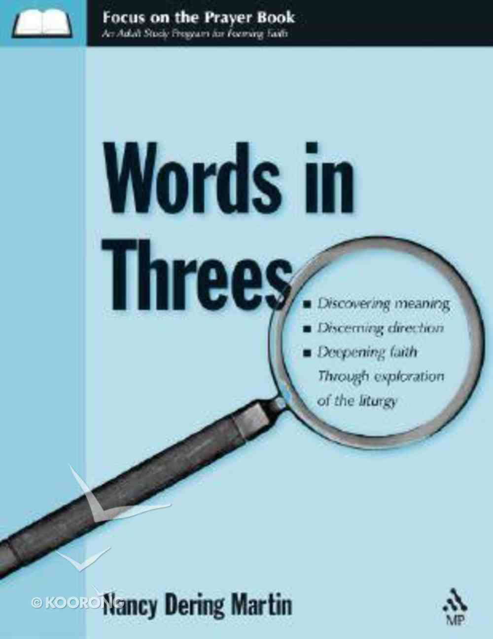 Words in Threes Paperback