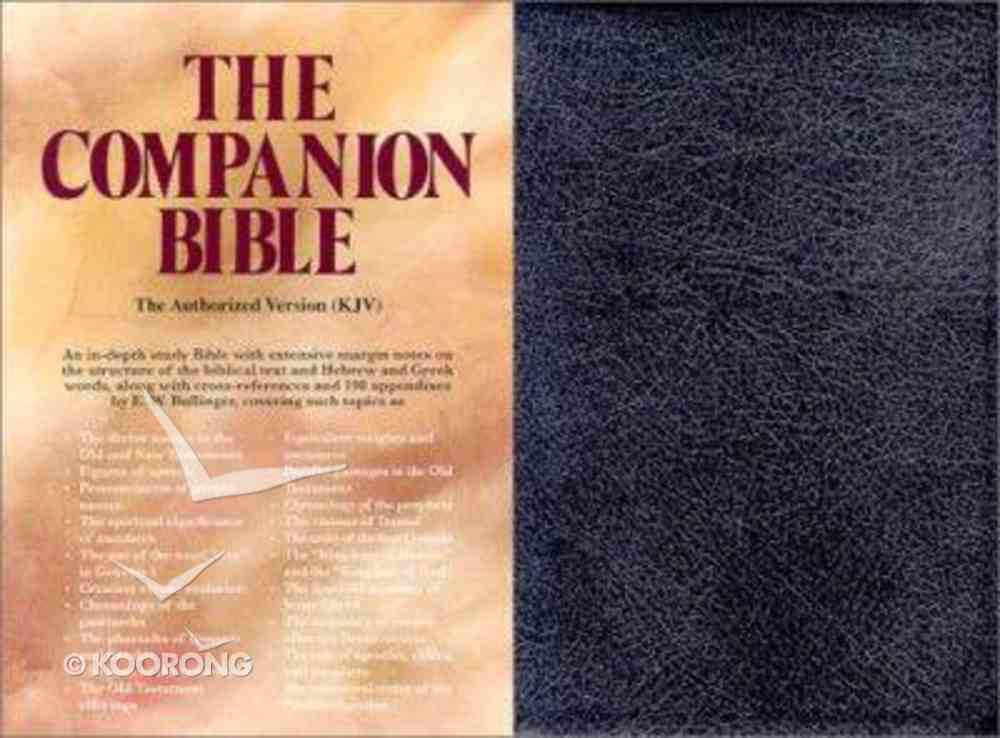 KJV Companion Bible, the Black/Indexed Genuine Leather