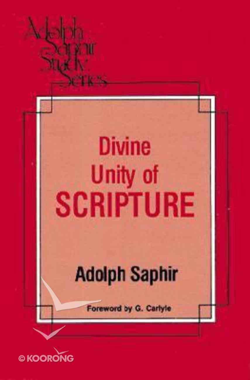 Divine Unity of Scripture Paperback