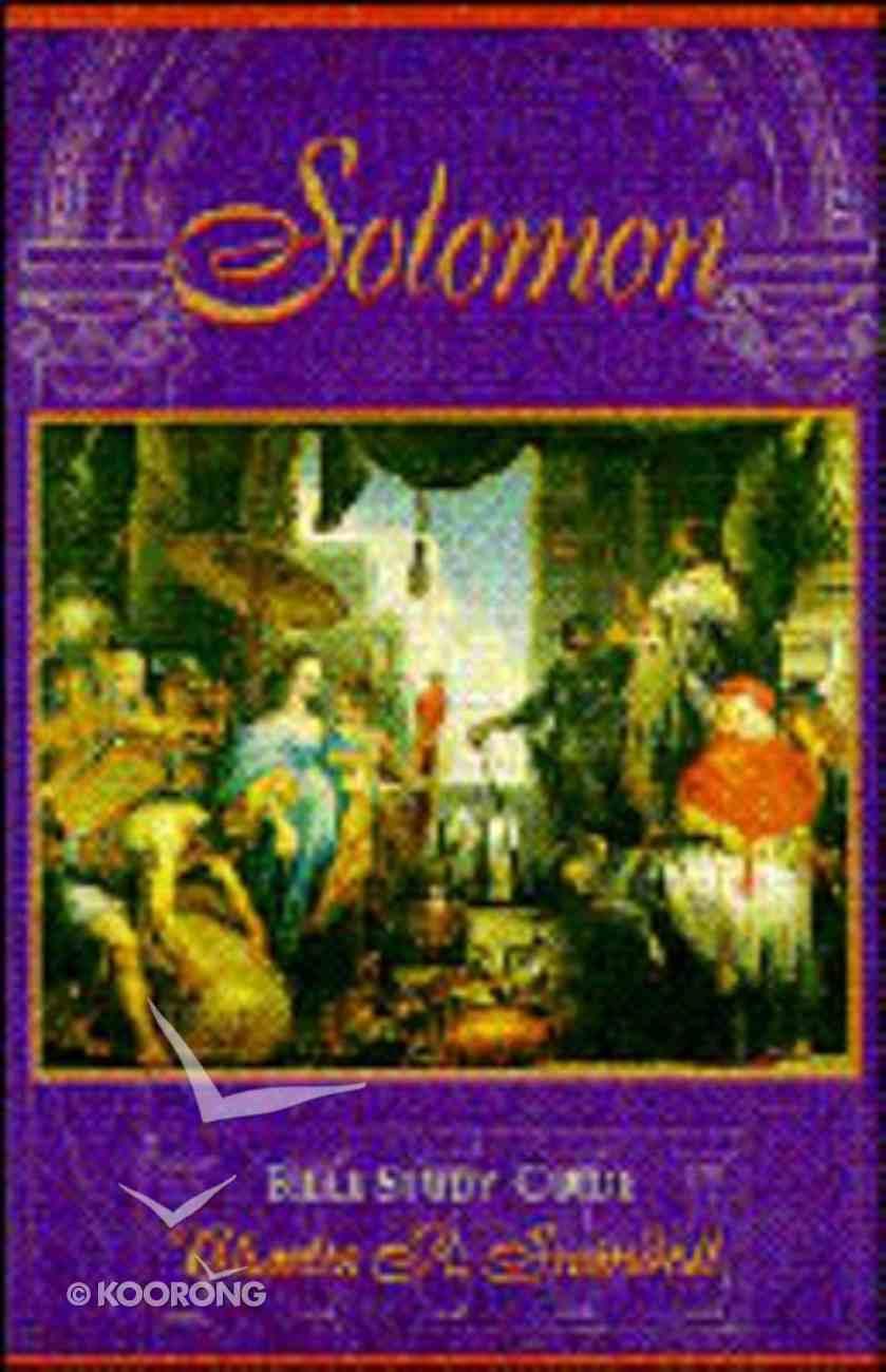 Solomon Bible Study Guide (2004) Paperback