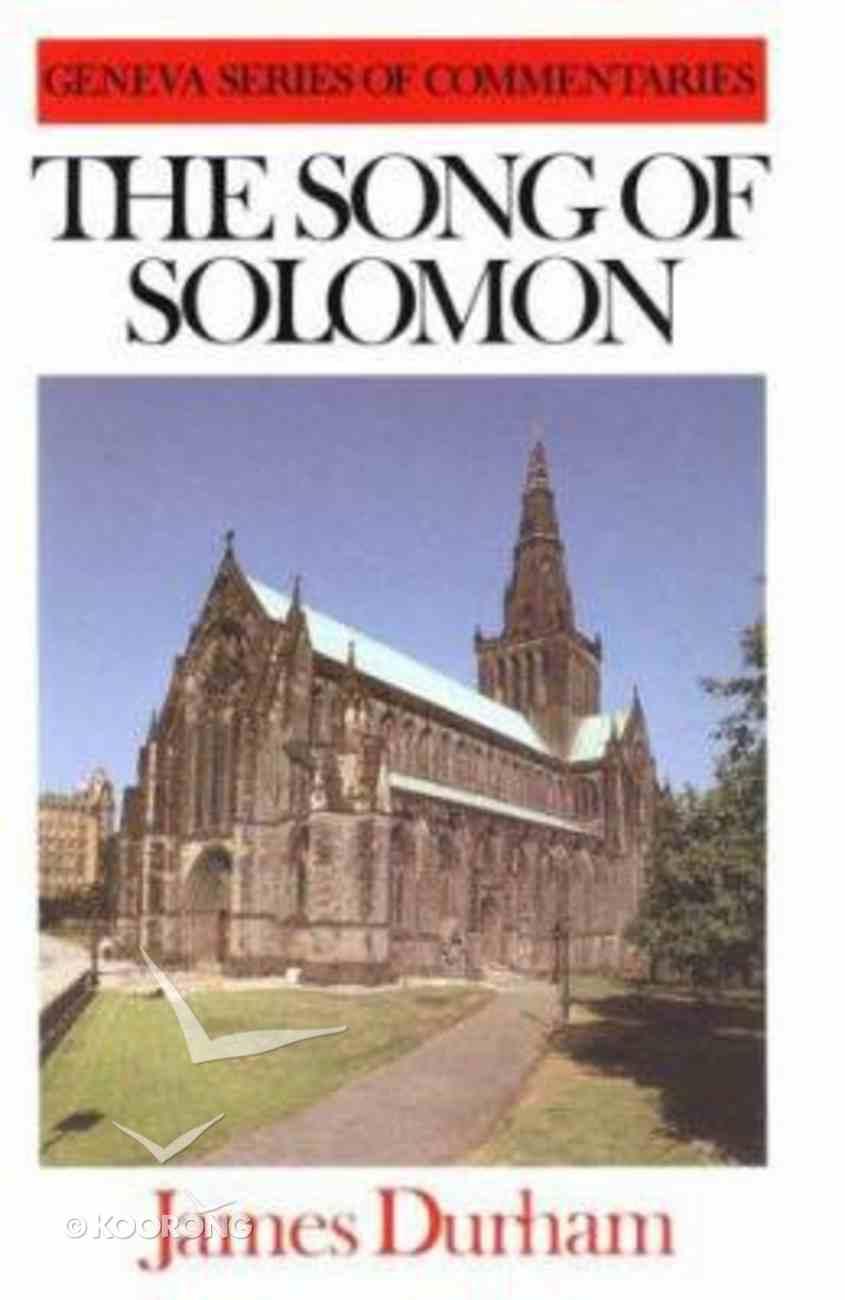 Song of Solomon (Geneva Series Of Commentaries) Hardback