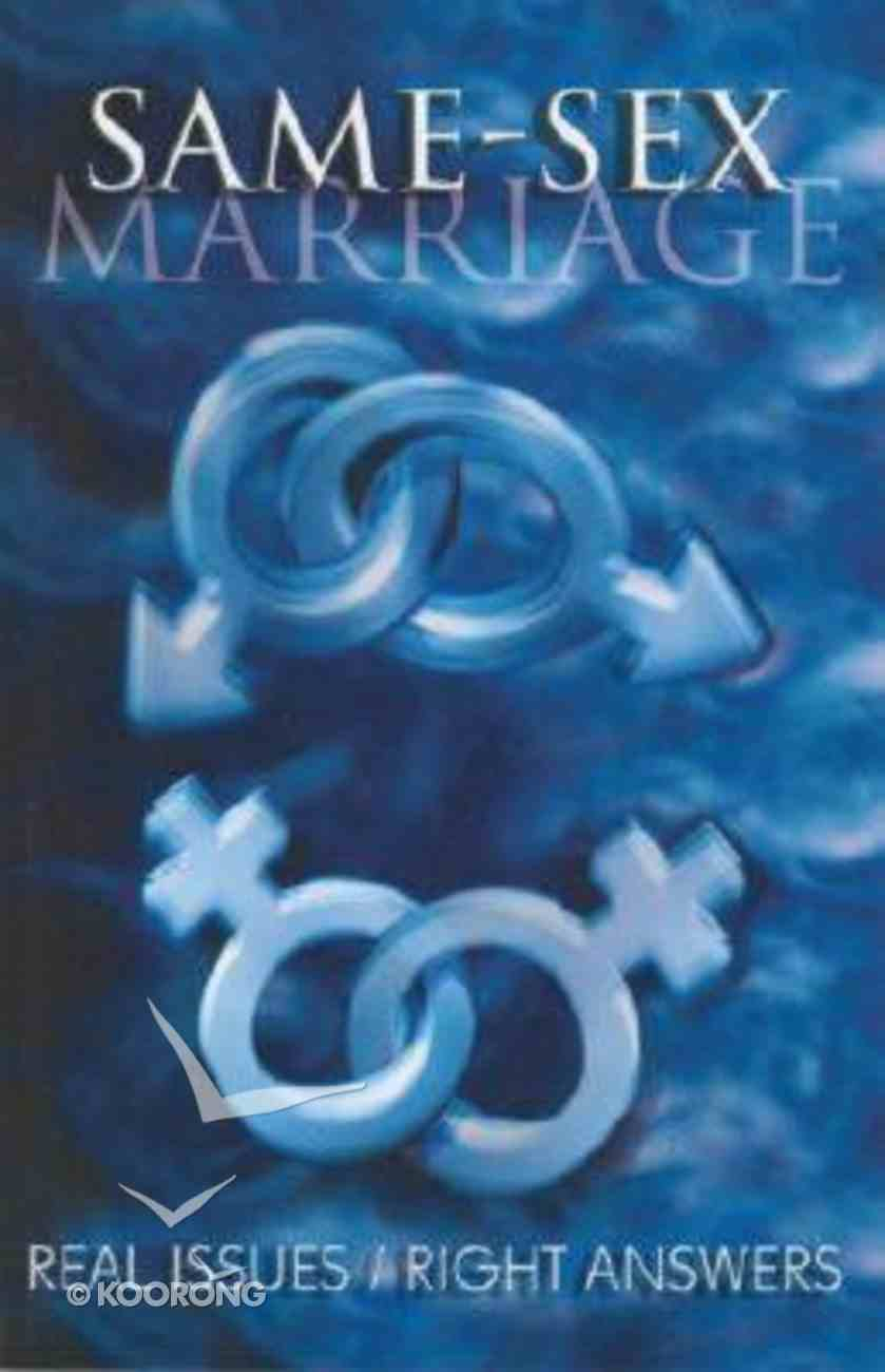 Same-Sex Marriage Paperback