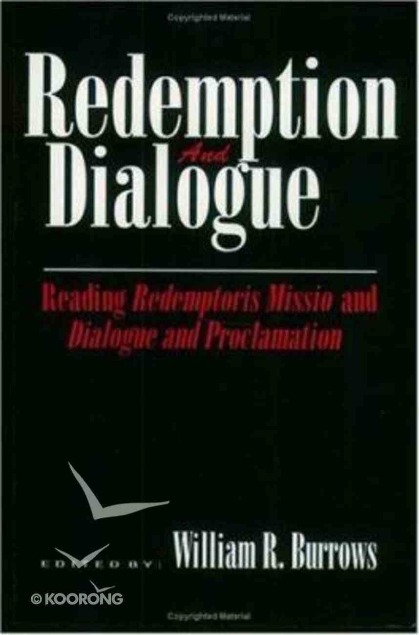 Redemption and Dialogue Paperback