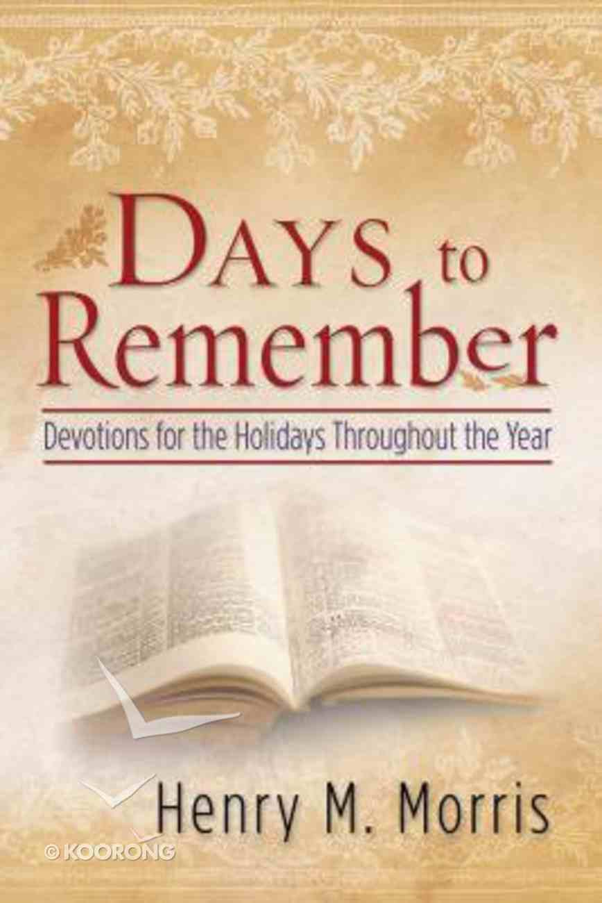 Days to Remember Paperback