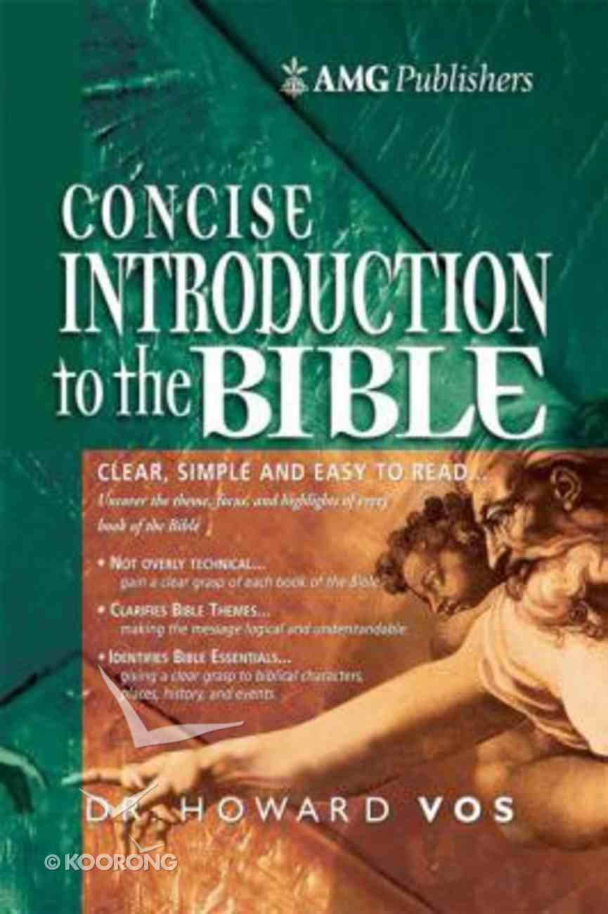 The Amg Concise Introduction to the Bible Hardback