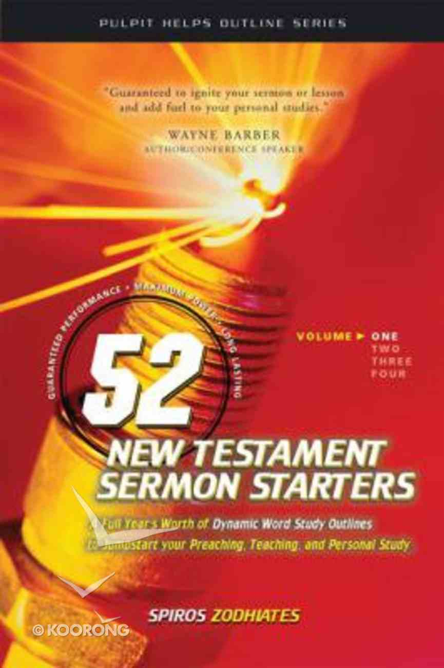 52 New Testament Sermon Starters (Vol 1) Paperback