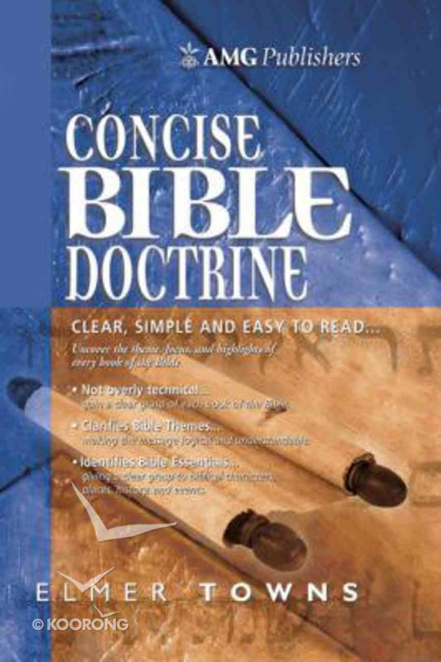 The Amg Concise Bible Doctrines Paperback
