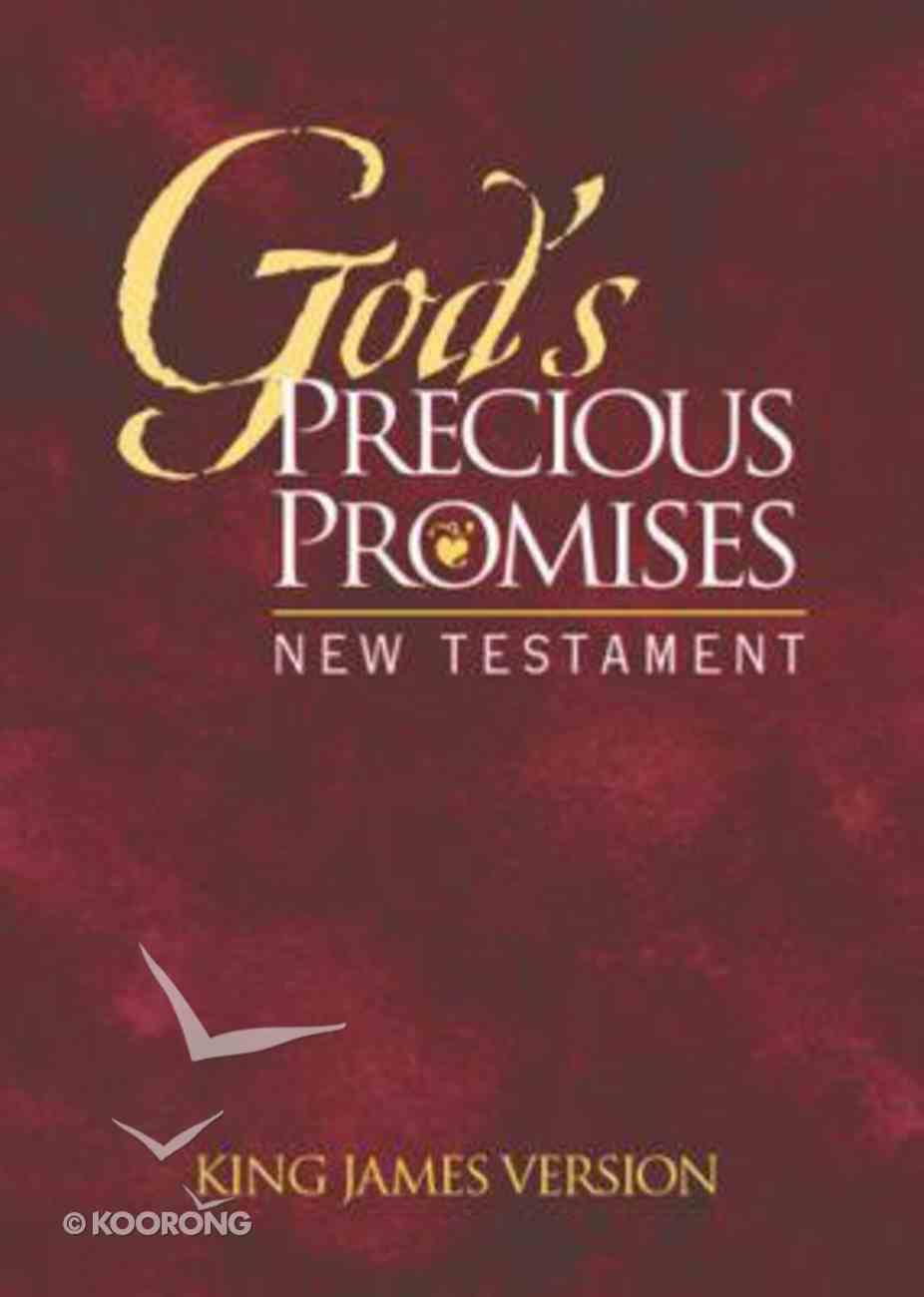 KJV God's Precious Promises New Testament Burgundy Paperback