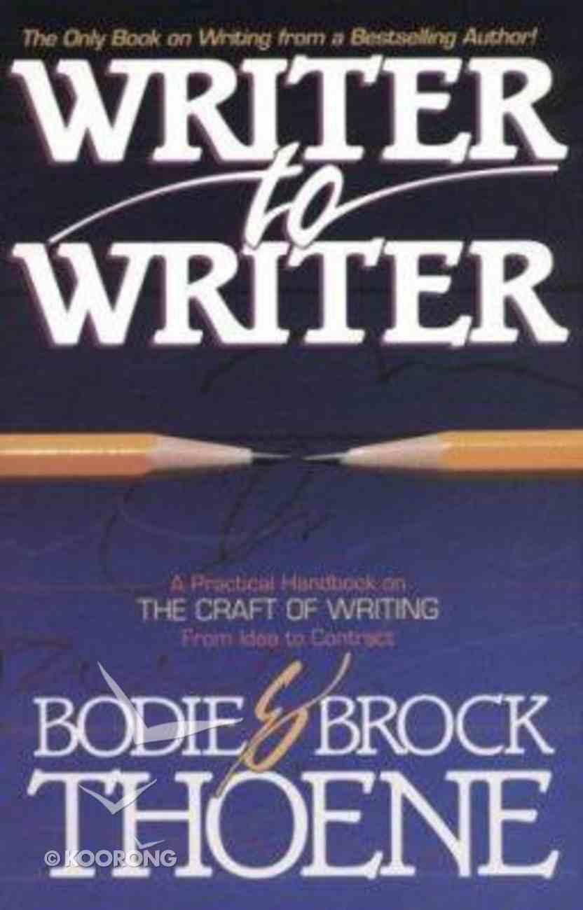 Writer to Writer Paperback