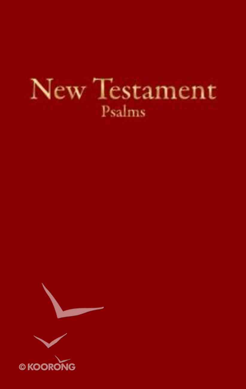 KJV Economy New Testament With Psalms Burgundy (Red Letter Edition) Imitation Leather