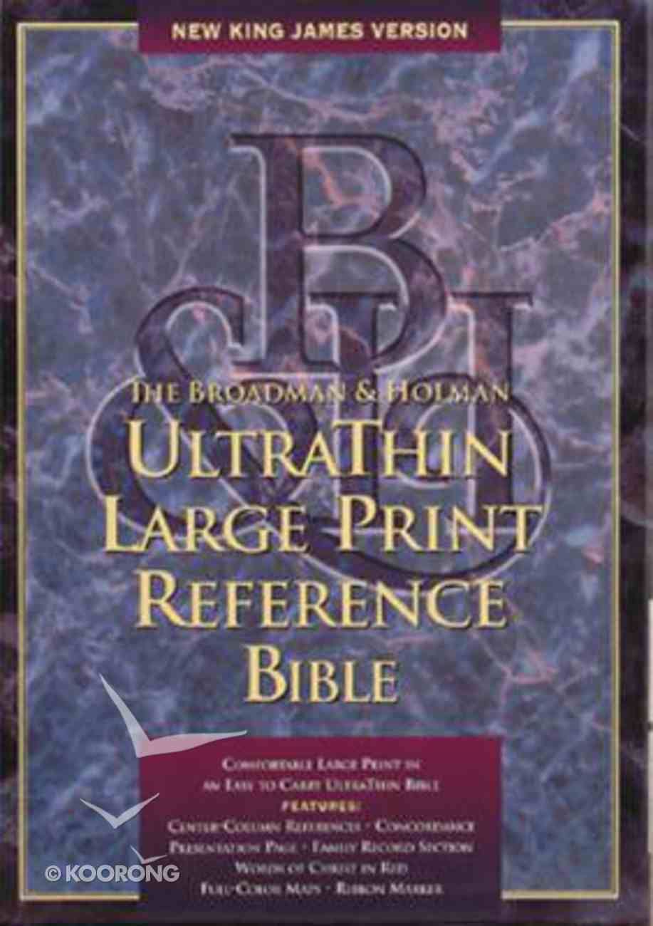 NKJV Ultrathin Large Print Reference Hunter Green Indexed Bonded Leather