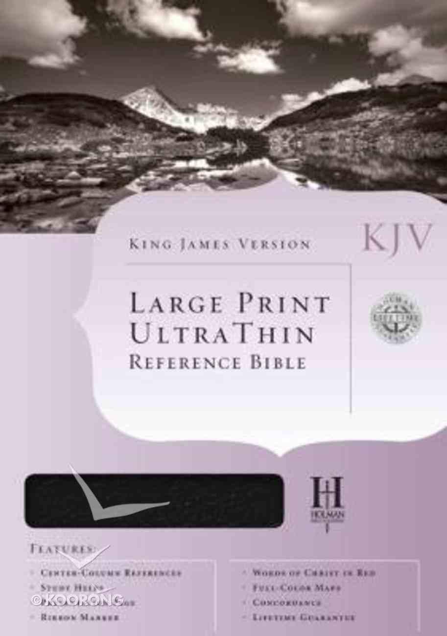 KJV Ultrathin Large Print Reference Burgundy Genuine Leather